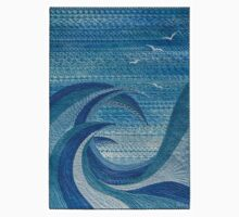 The Churning (embroidered seascape) Kids Clothes