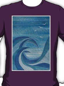 The Churning (embroidered seascape) T-Shirt