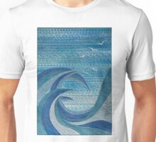 The Churning (embroidered seascape) Unisex T-Shirt
