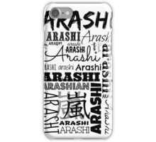 Arashi Text iPhone Case/Skin
