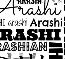 Arashi Text Sticker