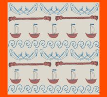 Seamless sea pattern. Vector illustration with marine elements. Kids Clothes