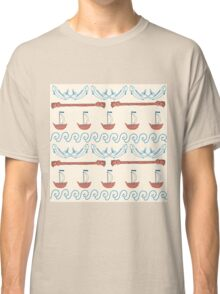 Seamless sea pattern. Vector illustration with marine elements. Classic T-Shirt