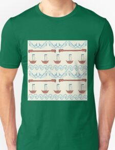 Seamless sea pattern. Vector illustration with marine elements. T-Shirt