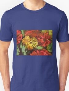 FLOWER PAINTING IN ACRYLIC Unisex T-Shirt