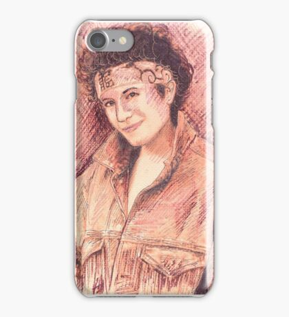 JANAIS IAN PORTRAIT IN INK iPhone Case/Skin
