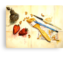 Still Life With Strawberry Canvas Print