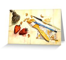 Still Life With Strawberry Greeting Card