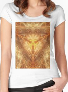Sacred Geometry 04 - Psychedelic Cube Women's Fitted Scoop T-Shirt