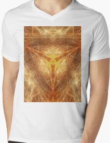 Sacred Geometry 04 - Psychedelic Cube Mens V-Neck T-Shirt