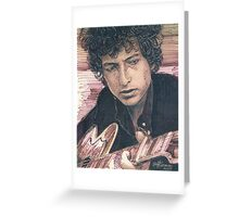 BOB DYLAN PORTRAIT IN INK Greeting Card