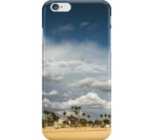 Sunny Day at the Long Beach with Palm Trees iPhone Case/Skin