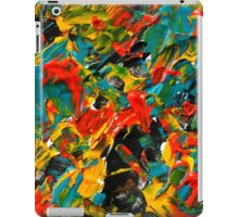 Colorful Abstract Pattern, Expressionist Art Design  iPad Case/Skin