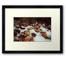White Rush Framed Print