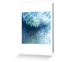 Abstract blue scales .2 Greeting Card