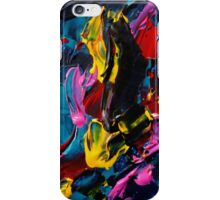 Colorful Contemporary Designs, Abstract Expressionist Art  iPhone Case/Skin