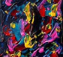 Colorful Contemporary Designs, Abstract Expressionist Art  by ShiningEyeArts