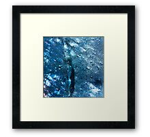Abstract blue scales 3 Framed Print