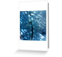 Abstract blue scales 3 Greeting Card