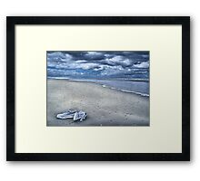 when I left . . .  Framed Print