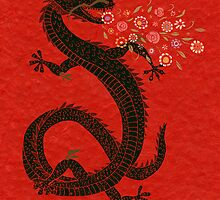 Flower-breathing dragon by SusanSanford