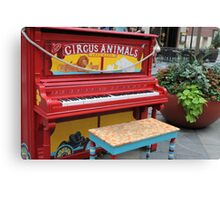 Decorated Piano Canvas Print