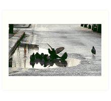 East Street Pigeons Art Print