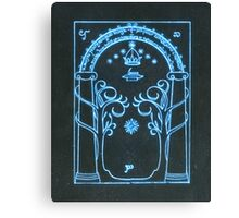 The Doors of Durin | The West Gate of Moria  Canvas Print