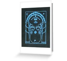 The Doors of Durin | The West Gate of Moria  Greeting Card