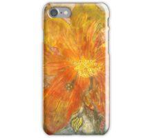 Stefania Silk Arts: Yellow abstract Himalayan Meconopsis iPhone Case/Skin