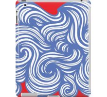Croff Abstract Expression Red Blue iPad Case/Skin