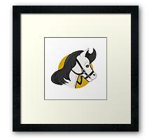 Horse head cartoon Framed Print