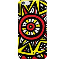 Suggett Abstract Expression Yellow Red Black iPhone Case/Skin