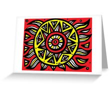 Suggett Abstract Expression Yellow Red Black Greeting Card