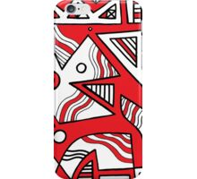Makela Abstract Expression Red White Black iPhone Case/Skin