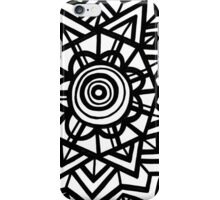 Merchen Abstract Expression Black and White iPhone Case/Skin