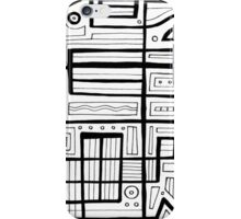 Hermez Abstract Expression Black and White iPhone Case/Skin