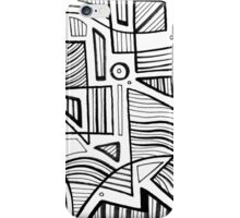 Handeland Abstract Expression Black and White iPhone Case/Skin