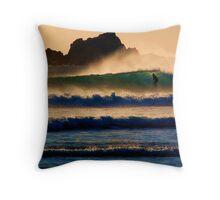 Sunset Wave Throw Pillow