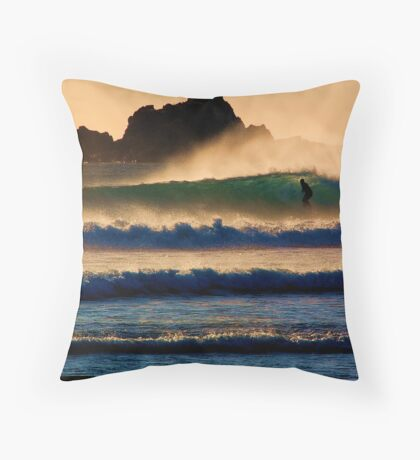 Sunset Wave Throw Pillow