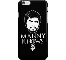 MANNY KNOWS PACQUIAO iPhone Case/Skin