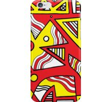 Staniszewski Abstract Expression Yellow Red iPhone Case/Skin