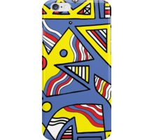 Carse Abstract Expression Yellow Blue iPhone Case/Skin