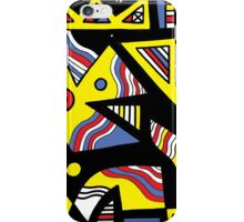 Gotimer Abstract Expression Yellow Black iPhone Case/Skin