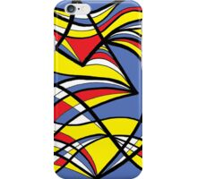 Kebort Abstract Expression Yellow Red Blue iPhone Case/Skin