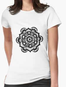 Floral Mandala Womens Fitted T-Shirt