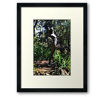 Nature Girl Sculpture. Abbotsbury.Dorset UK Framed Print