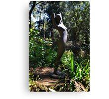 Nature Girl Sculpture. Abbotsbury.Dorset UK Canvas Print
