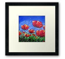 Summer Poppies Framed Print