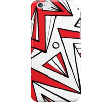 Winge Abstract Expression Red White Black iPhone Case/Skin
